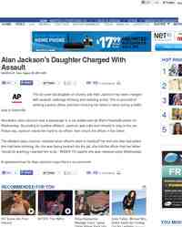 Alan jackson s daughter charged with assault one news page